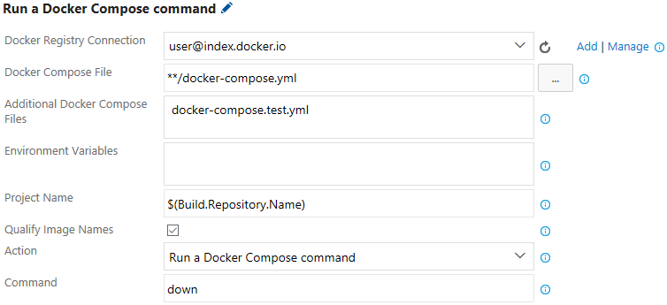 Docker Compose Command