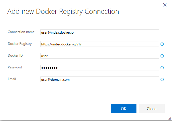 New Docker Registry Connection