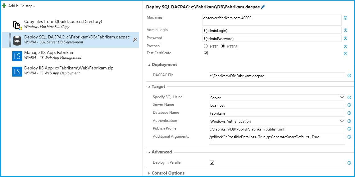 WinRM: SQL Server Database Deployment