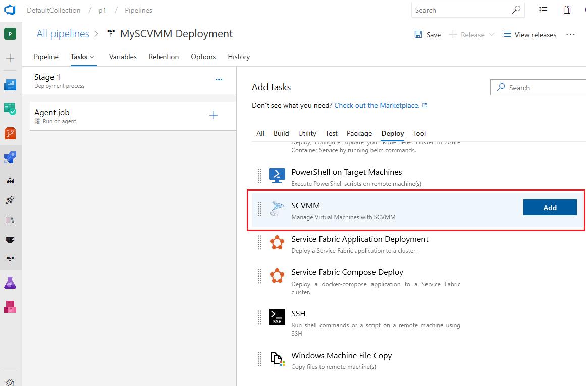 SCVMM Integration - Visual Studio Marketplace