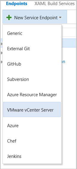 New VMware Service Connection