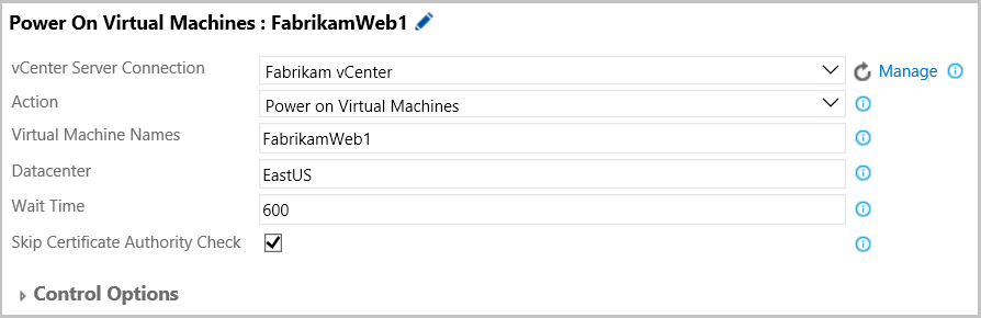 Power On or Delete VMware VMs