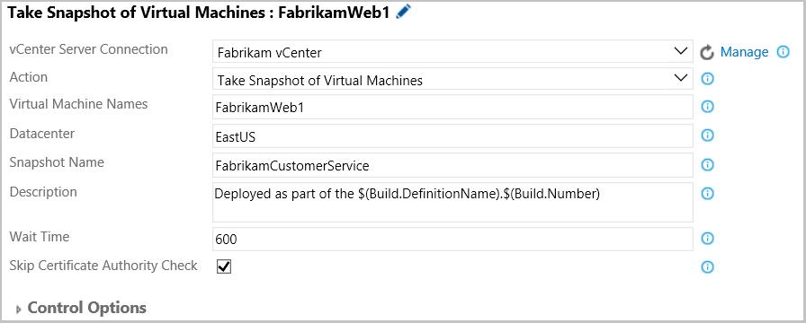 Snapshot VMware VMs